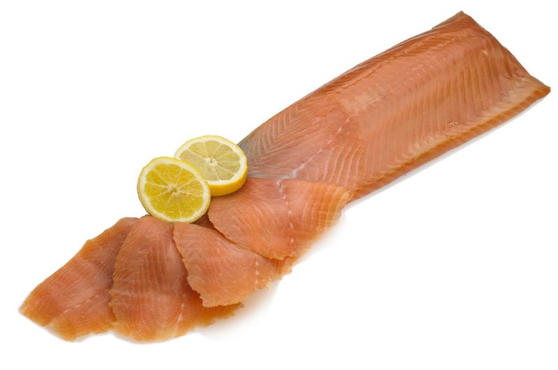 Smoked Salmon D Sliced Side