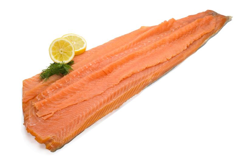 Smoked Salmon Long Sliced Side